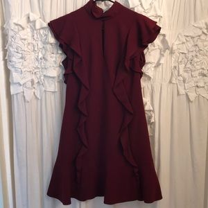 Gorgeous maroon never worn Karen Millen dress